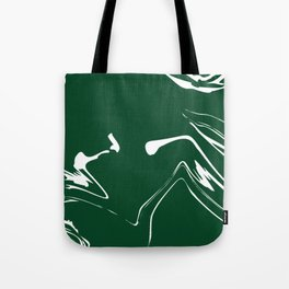 Green With White Liquid Paint Tote Bag