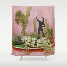 The Wonders of Cactus Island Shower Curtain