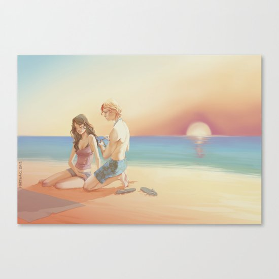 Annie and Finnick Canvas Print