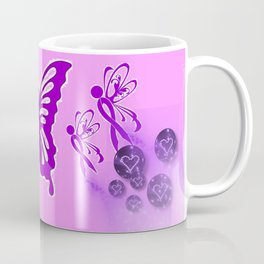 Power Purple For a Cure - Fantasy Coffee Mug
