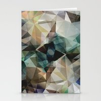 garfield Stationery Cards featuring Abstract Grunge Triangles by Phil Perkins