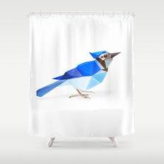 Blue Jay. Shower Curtain