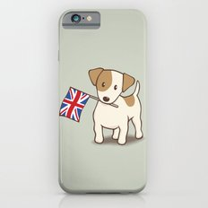 Jack Russell Terrier and Union Jack Illustration Slim Case iPhone 6