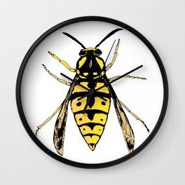 Wasp vector Wall Clock