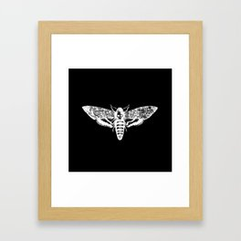 Deathheadsmoth nega Framed Art Print