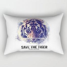 Save the Tiger  Rectangular Pillow