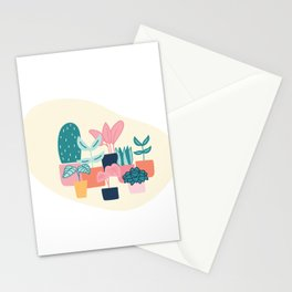 Cute House Plant  Stationery Cards
