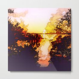 Impression of a sunset Metal Print