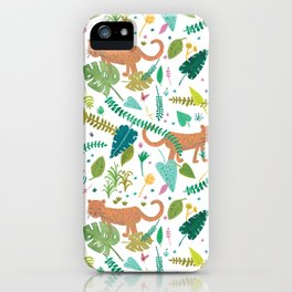 Roar Sweet Tigers in the Jungle iPhone Case