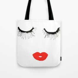 Lashes & Lips Tote Bag