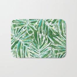 PALMY AND 85 Green Tropical Palm Bath Mat