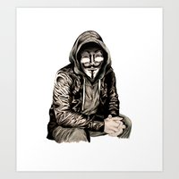 gangster Art Prints featuring Anonymous Gangster by 13 Styx