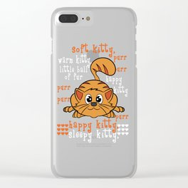 A perfect gift for cat lovers, pet lovers, who mostly like kitten, pussy cat Happy Soft & Warm Kitty Clear iPhone Case
