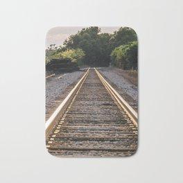 Train Track Bath Mat