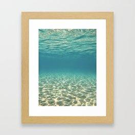 Subaquamarine Framed Art Print