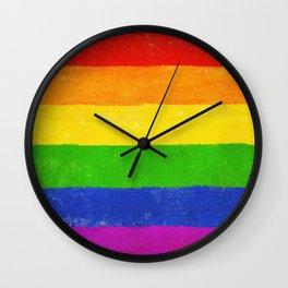 Gay Pride Flag LGBQT Wall Clock