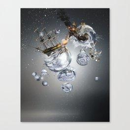 Bubble Battle Canvas Print