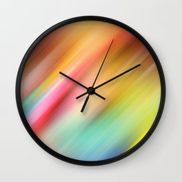 Abstract of multiple colors blending into each other Wall Clock
