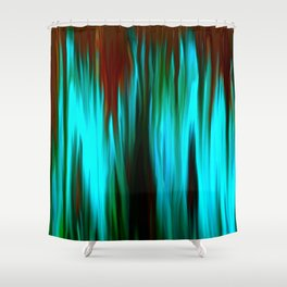 Blue Smoke Shower Curtain