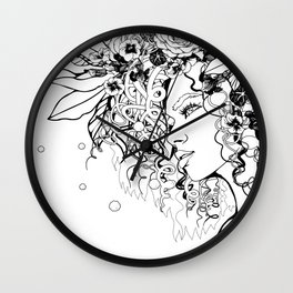 With Flowers in Her Hair No. 5 Wall Clock