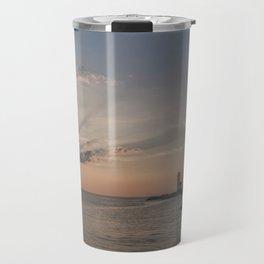 Sunbeams at Annisquam lighthouse Travel Mug