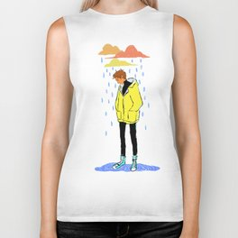 rainy day Biker Tank