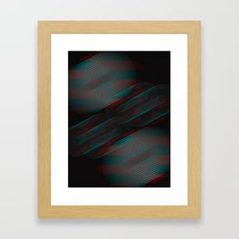 Echoes VII - Abstract Glitched Circles Framed Art Print