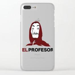 LA CASA DE PAPEL tee shirt El Profesor Clear iPhone Case