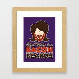 Bacon Beard (women's version) Framed Art Print