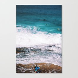 Waiting On the Wave Canvas Print