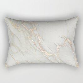 Marble Love Bronze Metallic Rectangular Pillow
