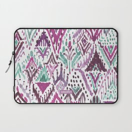 PLUM TRIUMPHANT TRIBAL Ikat Watercolor Laptop Sleeve