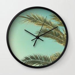 Autumn Palms II Wall Clock