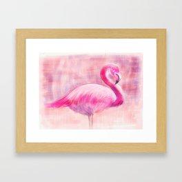 Fanny Flamingo Framed Art Print