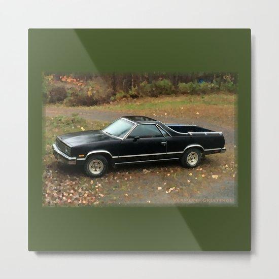 '83 El Camino Love Metal Print