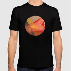 Orange flow Mens Fitted Tee Black MEDIUM