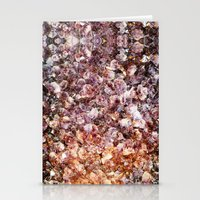 geode Stationery Cards featuring Amethyst Geode Up Close by 319media