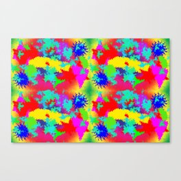 Colourful Random Trippy Pattern Canvas Print
