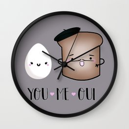 You, Me, Oui Wall Clock
