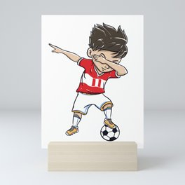 Dabbing Soccer Player Funny Peru Fan print boy Mini Art Print