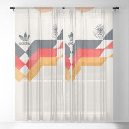 Vintage World Cup shirt, old Germany jersey, Italia 90, retro football jersey, soccer love Sheer Curtain