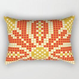 Red & Gold Flower Rectangular Pillow