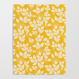 Leaves Pattern 11 Poster