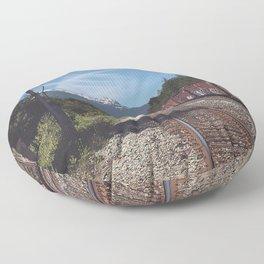 Mountain Railway Floor Pillow