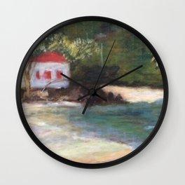 Cinnamon Bay at Sunrise 2 Wall Clock