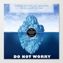1 Peter 5:7 Worry Canvas Print