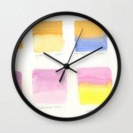 Watercolor Washes Wall Clock