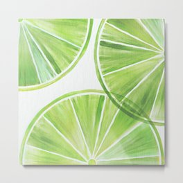 Fresh Lime ~ Summer Citrus Metal Print