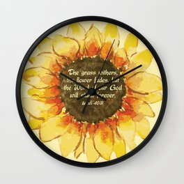 The Word of our God will stand forever Wall Clock