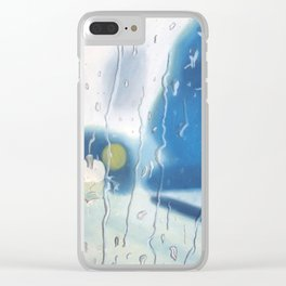 Feelin' Blue Clear iPhone Case